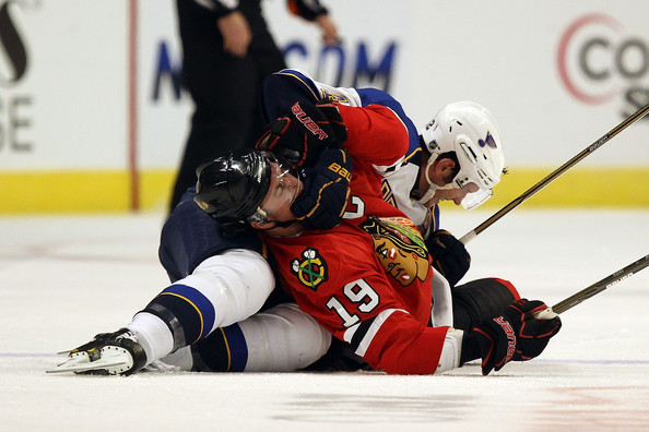 hawks vs blues