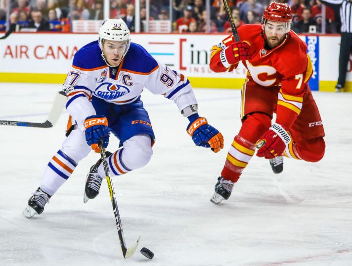 oilers vs flames